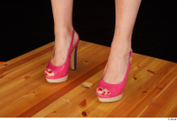 Lady Dee foot pink high heels shoes 0002.jpg