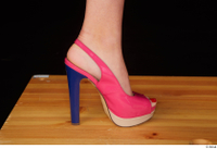 Lady Dee foot pink high heels shoes 0009.jpg