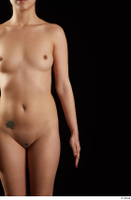 Lady Dee  1 arm flexing front view nude 0001.jpg